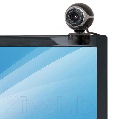 Веб-камера Defender C-090 / 63090 (черный) - крепление на мониторе
