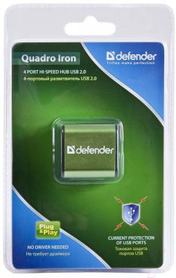 Разветвитель USB Defender Quadro Iron / 83506 - упаковка
