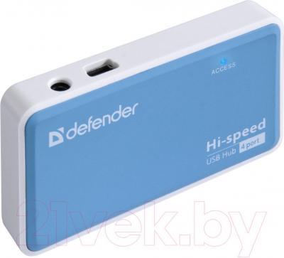 Разветвитель USB Defender Quadro Power / 83503 - вполоборота