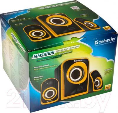 Мультимедиа акустика Defender JamSation S10 / 65614 (черно-оранжевый) - в упаковке