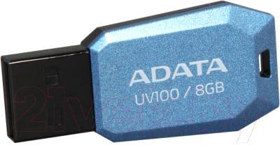 Usb flash накопитель A-data UV100 (8 GB, синий) - общий вид