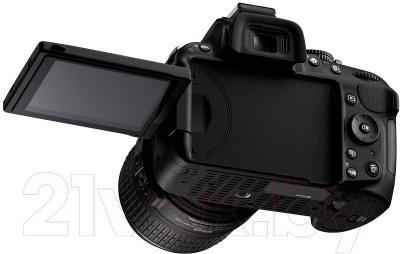 Зеркальный фотоаппарат Nikon D5200 Kit (18-55mm VR II, черный) - общий вид