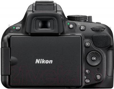 Зеркальный фотоаппарат Nikon D5200 Kit (18-55mm VR II, черный) - вид сзади