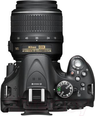Зеркальный фотоаппарат Nikon D5200 Kit (18-55mm VR II, черный) - вид сверху