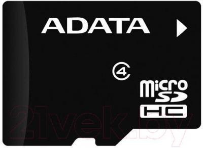 Карта памяти A-data microSDHC (Class 4) 16Gb (AUSDH16GCL4-RA1) - общий вид