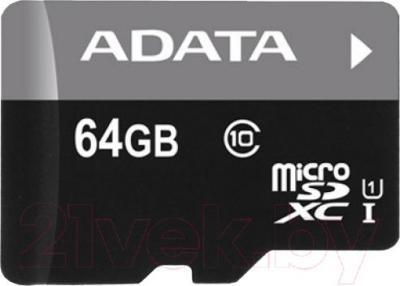 Карта памяти A-data Premier microSDXC UHS-I U1 (10 Class) 64 Gb (AUSDH64GUICL10-R) - общий вид