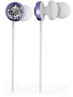 Наушники Cresyn C410E Bijoux (фиолетовый) - общий вид