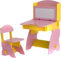Стол+стул Столики Детям ЖР-1 (желто-розовый) -