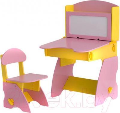 Стол+стул Столики Детям ЖР-1 (желто-розовый) - общий вид