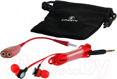 Наушники Cresyn C520E (красный) - комплектация