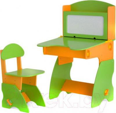 Стол+стул Столики Детям СО-1 (салатово-оранжевый) - общий вид