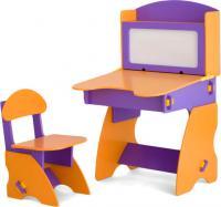 Стол+стул Столики Детям ФО-1 (фиолетово-оранжевый) -
