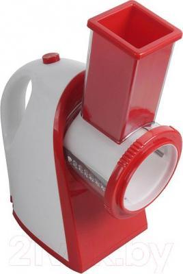 Овощерезка электрическая Kitfort KT-1304-1 (красный) - вид сбоку
