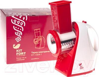 Овощерезка электрическая Kitfort KT-1304-1 (красный) - упаковка