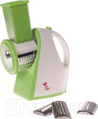Овощерезка электрическая Kitfort KT-1304-2 (зеленый) - общий вид