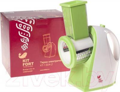 Овощерезка электрическая Kitfort KT-1304-2 (зеленый) - упаковка