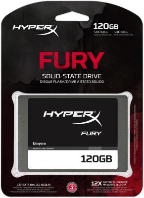 SSD диск Kingston HyperX Fury 120GB (SHFS37A/120G) - общий вид