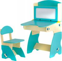 Стол+стул Столики Детям ББ-1 (бежево-бирюзовый) -