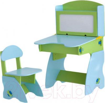 Стол+стул Столики Детям СГ-1 (салатово-голубой) - общий вид