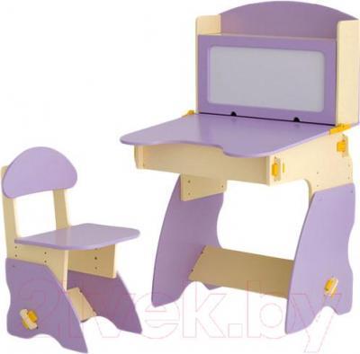 Стол+стул Столики Детям С-1 (сиренево-бежевый) - общий вид