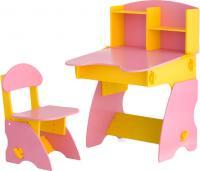 Стол+стул Столики Детям ЖР-2 (желто-розовый) -