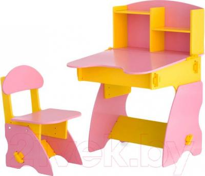 Стол+стул Столики Детям ЖР-2 (желто-розовый) - общий вид