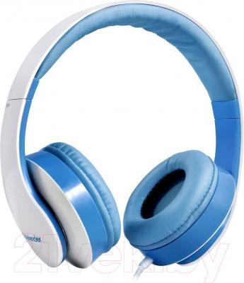 Наушники-гарнитура Defender Accord-168 / 63168 (бело-синий) - общий вид