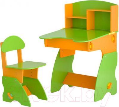 Стол+стул Столики Детям СО-2 (салатово-оранжевый) - общий вид