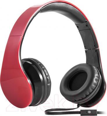 Наушники-гарнитура Defender Accord HN-047 / 63046 (красный) - общий вид