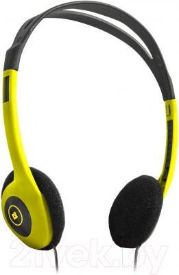 Наушники-гарнитура Defender Aura HN-001 / 63000 (желтый) - общий вид