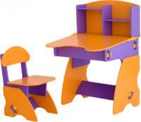 Стол+стул Столики Детям ФО-2 (фиолетово-оранжевый) -
