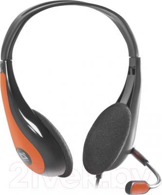 Наушники-гарнитура Defender Esprit HN-836 / 63836 (черно-оранжевый) - общий вид