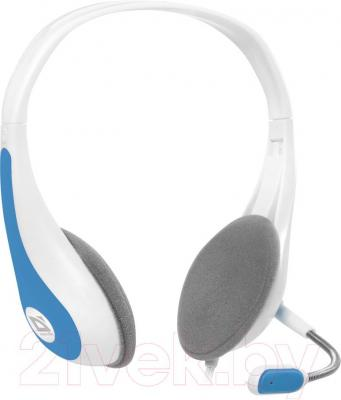 Наушники-гарнитура Defender Esprit HN-836 / 63838 (бело-синий) - общий вид