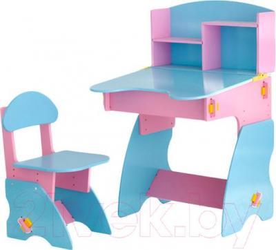 Стол+стул Столики Детям РГ-2 (розово-голубой) - общий вид