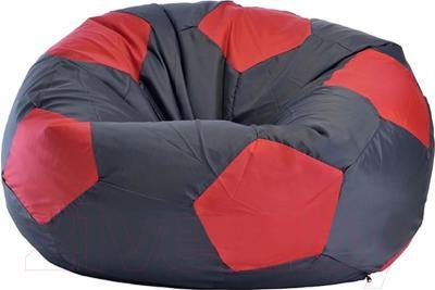 Бескаркасное кресло Flagman Мяч Стандарт М1.1-0700 (черный с красным)
