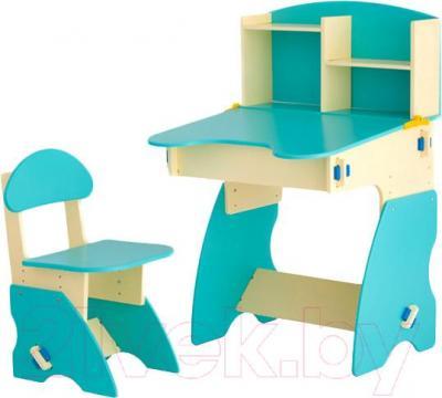 Стол+стул Столики Детям ББ-2 (бежево-бирюзовый) - общий вид