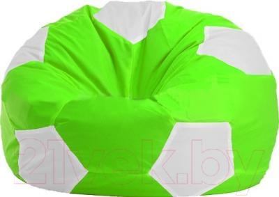 Бескаркасное кресло Flagman Мяч Стандарт М1.1-2100 (салатовый с белым)