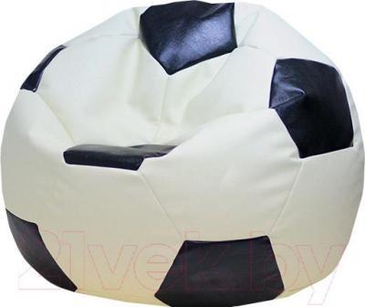 Бескаркасное кресло Flagman Мяч Стандарт М1.3-1016 (белый с черным)