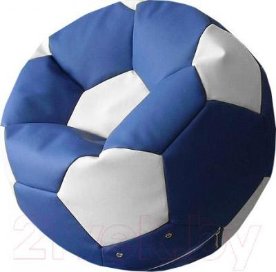 Бескаркасное кресло Flagman Мяч Стандарт М1.3-0310 (синий с белым)