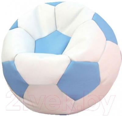 Бескаркасное кресло Flagman Мяч Стандарт М1.3-1036 (белый с голубым)