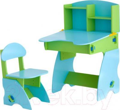 Стол+стул Столики Детям СГ-2 (салатово-голубой) - общий вид