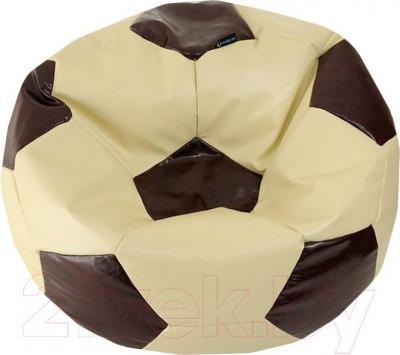 Бескаркасное кресло Flagman Мяч Стандарт М1.3-1126 (кремовый с коричневым)
