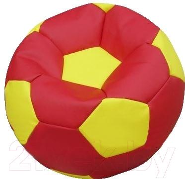 Бескаркасное кресло Flagman Мяч Стандарт М1.3-0908 (красный с желтым)