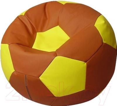 Бескаркасное кресло Flagman Мяч Стандарт М1.3-0608 (коричневый с желтым)