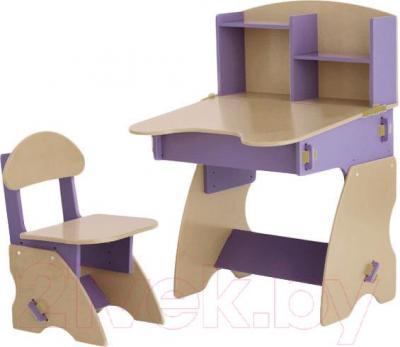 Стол+стул Столики Детям С-2 (сиренево-бежевый) - общий вид