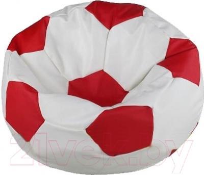 Бескаркасное кресло Flagman Мяч Стандарт М1.3-1009 (белый с красным)
