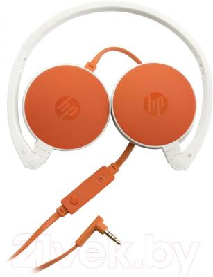 Наушники-гарнитура HP Stereo Headset H2800 (бело-оранжевый) - общий вид