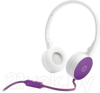 Наушники-гарнитура HP Stereo Headset H2800 (бело-фиолетовый) - общий вид