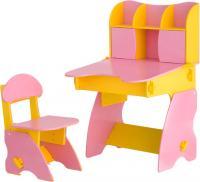 Стол+стул Столики Детям ЖР-3 (желто-розовый) -