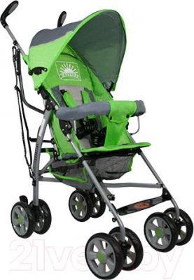 Детская прогулочная коляска INFINITY Echo (зеленый) - общий вид
